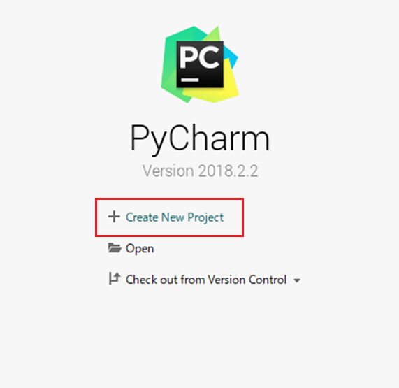 pycharm-create-project